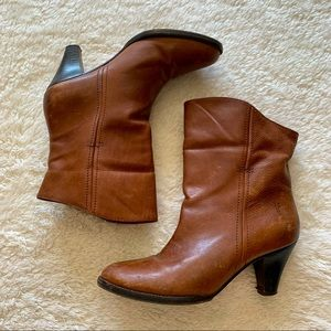 Frye leather heeled ankle booties